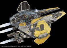 Star Wars Cutaway: Eta-2 Actis-class Light Interceptor