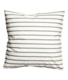 Check this out! CONSCIOUS. Cushion cover in woven organic cotton fabric with printed stripes. Concealed zip. Size 20 x 20 in. - Visit hm.com to see more.