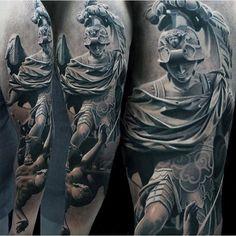 Greek Warrior Awesome Mens Sleeve Tattoos