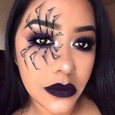 Easy Spider Eye Makeup