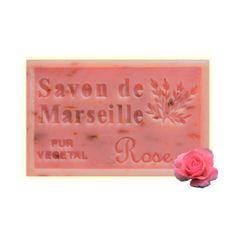 ✭ Savon de Marseille à la rose - Exfoliant doux gommage de la peau ✭