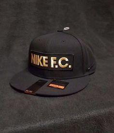b27008e1dfd Nike F.C. Block True Snapback Cap Hat (Black-Gold) 779419 010