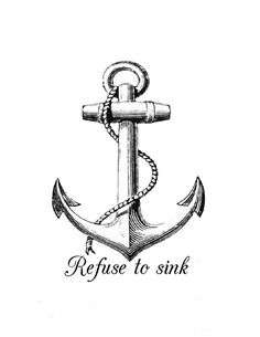 See next pin with anchor  Anchor iron on transfer Anchor Refuse to by…