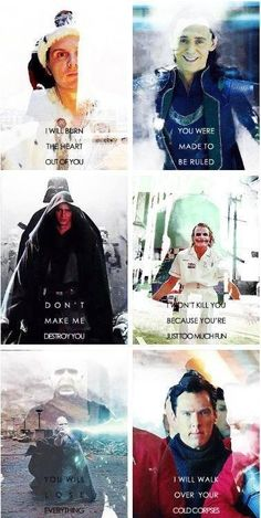 Villains. No matter how evil, there is a part of me that still loves them.