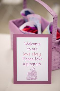 Welcome to our love story please take a program | Photo By Kaitlin Noel Photography