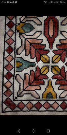 Cross Stitch Flowers, Cross Stitch Patterns, Forearm Tattoo Design, Palestinian Embroidery, Needlepoint Pillows, Handmade Books, Hand Embroidery, Needlework, Diy And Crafts