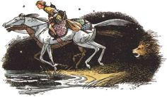 The Horse and His Boy illustration by Pauline Baynes