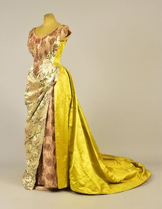 FELIX BEADED and TRAINED BALLGOWN, 1880