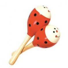 A pair of two ladybird maracas to add some spice and musical fun to your music kit.