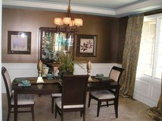 Brown Dining Room Decor chocolate brown dining room | design | pinterest | chocolate brown