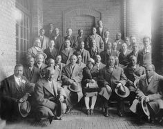 These individuals attended the Negro Contractors' Conference at Hampton Institute, in Virginia. The central figure is Ethel Bailey Furman (1893 – 1976). Furman was probably the first practicing female African American architect in the Commonwealth of Virginia. She studied in New York and Chicago. Furman designed numerous public and private buildings in Richmond and the surrounding area including Fair Oak Baptist Church in Richmond and Mount Nebo Baptist Church in New Kent County.