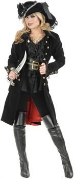 PartyBell.com - Pirate Vixen Adult Coat