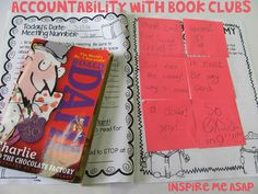 This is my fifth post in my eight post series about implementing book clubs into your classroom. Last week, I wrote about the implementing book club expectations, which you can read more about HERE. Today, I am writing specifically about accountability wi Third Grade Books, 5th Grade Reading, Guided Reading, Teaching Reading, Teaching Ideas, Library Activities, Reading Activities, Vocabulary Activities, Book Clubs