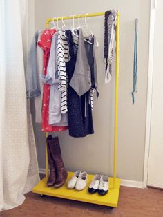 How To: Make a DIY Rolling Clothes Rack