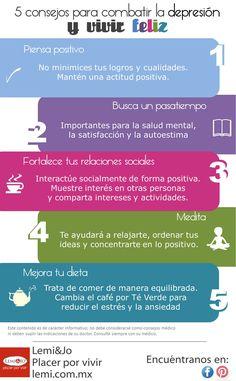 5 consejos para combatir la depresión #depresion #salud #bienestar