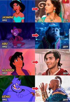 Aladdin is a movie starring Naomi Scott, Will Smith, and Mena Massoud. Disney Films, Disney Pixar, Disney E Dreamworks, Disney Princess Memes, Disney Fun, Disney Animation, Disney Live, Disney Marvel, Funny Disney Memes