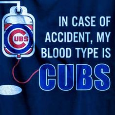 Blood type is Cubs! Chicago Cubs Pictures, Chicago Cubs Fans, Chicago Cubs Baseball, Chicago Blackhawks, Chicago Chicago, Chicago Cubs Wallpaper, Cubs Cards, Cubs World Series, Cubs Team