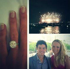 Caroline Wozniacki and Rory McIlroy engaged!!!! YAY!!! They are Soo cute together