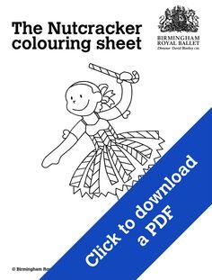 Nutcracker colouring sheet - A Mirliton