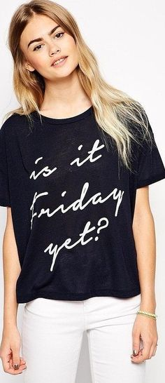 Funny t-shirt: ASOS Is It Friday Yet? T-Shirt