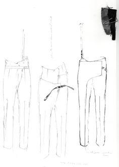Fashion Sketchbook - tailoring development, trouser sketches, fashion drawings // Alexandra Baldwin
