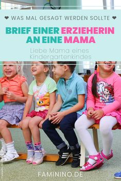 Brief von einer Erzieherin an eine Kindergarten-Mama - Parenting Matters Crafts For Boys, Toddler Crafts, Reading Activities, Infant Activities, Kids Ca, Parenting Teens, Mom And Baby, Sports Women, Teacher