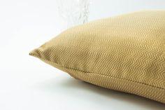 Decorative throw pillow Cover 18x18 Gold Chevron Silk Brocade