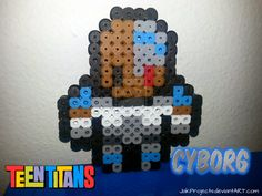 Cyborg (Teen Titans) perler beads by JakProjects on deviantART