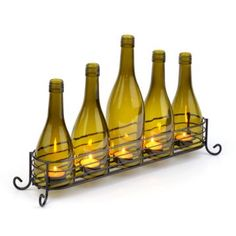 $18.74 Glass & Metal Wine Bottle Runner. I want this for my patio. From Kirklands.