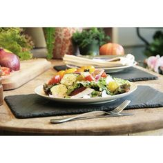 Slate+Placemats+Black+Set+Of+2,+$30, now featured on Fab.