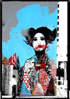 Hush New Mural @ Miami Art Basel 2012 (USA)