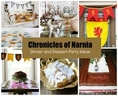 Chronicles of Narnia – Dinner and Dessert Party Ideas  #narnia #party #decorations #birthday #ideas