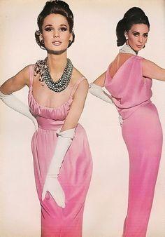 Brigitte Bauer with Wilhelmina Cooper for March Vogue 1964  Photoby Irving Penn