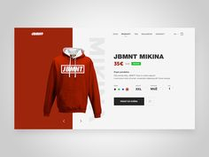 I made Product page for JBMNT E-commerce  Check the more screens  Hope you like it :)