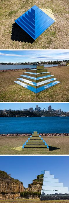 A Ziggurat of Mirrors by Shirin Abedinirad Connects the Sky to the Ground in Sydney