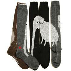 Terrific elephant socks from Japanese shop cocomonomamani. via Sumally Kids Socks, My Socks, Cool Socks, Look Fashion, Kids Fashion, Elephant Socks, Batik, Kid Styles, Sock Shoes