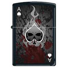 Zippo Lighter Ace Death 0649 in Black Matte -- Discover this special product, click the image : Safety and Survival