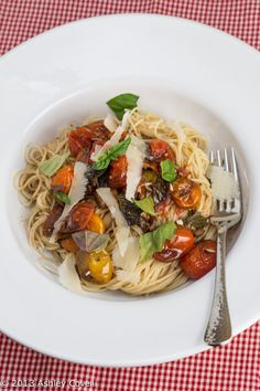 The flavor of the tomatoes really intensifies in the oven, and the addition of balsamic adds wonderful richness to the sauce. Using fresh basil at the end really brings out the vibrancy of this dish. And it's quick, easy, healthy and gluten-free/vegan adaptable to boot!