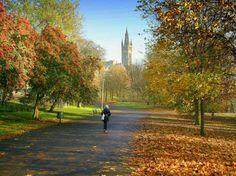 Kelvingrove Park, Glasgow, Scotland. Potential setting for 2nd scene.