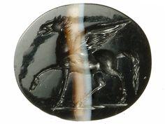 Intaglio Roman, London c. 43-60 AD When Boudica attacked London in AD
