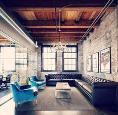 Loft style seating area... Exposed brick... Meeting room