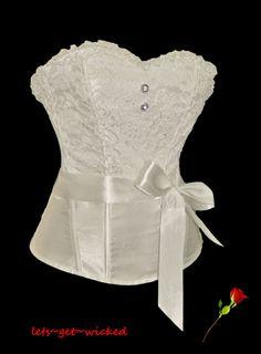 696d5e697a Sexy Corset Basque   Bridal Top Lingerie Underwear Cream   Ivory Strapless  Corset