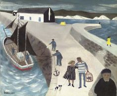Mary Fedden - Harbour Wall : Oh my goodness this is wonderful.