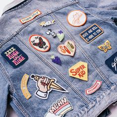 UrbanOutfitters / Denim / Jacket / Patches / Pins