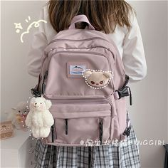 Aesthetic Bags, Aesthetic Clothes, Girly Backpacks, Stylish School Bags, Fashion Bags, Kids Fashion, Modern Backpack, Kawaii Bags, Cute Water Bottles