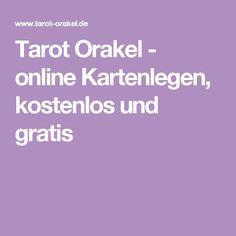 Tarot Orakel - online Kartenlegen, kostenlos und gratis