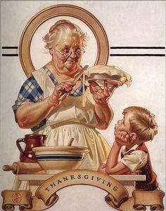 """Olha quem fez o desenho de capa de """"Comer bem"""" da Dona Benta - nada de sítio do pica-pau amarelo! Foi Norman Rockwell !!!!!"""