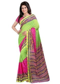 Buy Z Hot Fashion Georgette Saree - Green