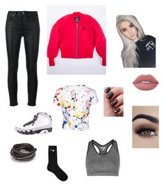 """Untitled #17"" by heyimrae123 on Polyvore featuring Yves Saint Laurent, NIKE, Alice + Olivia, Topshop, Chan Luu and Lime Crime"