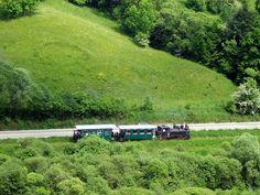 Mocanita, old train in Apuseni Mountains, Romania